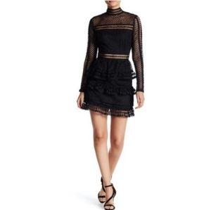 New FREE GENERATION Black Lace Dress
